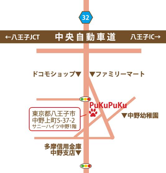 犬の幼稚園 犬のしつけ PuKuPuKu アクセスマップ