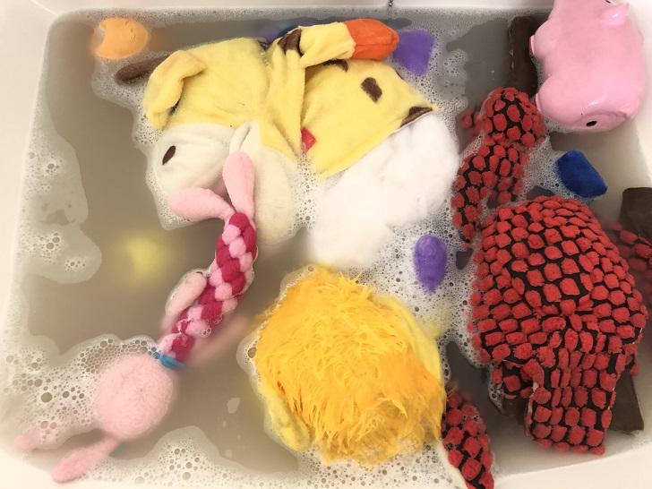 おもちゃ洗濯